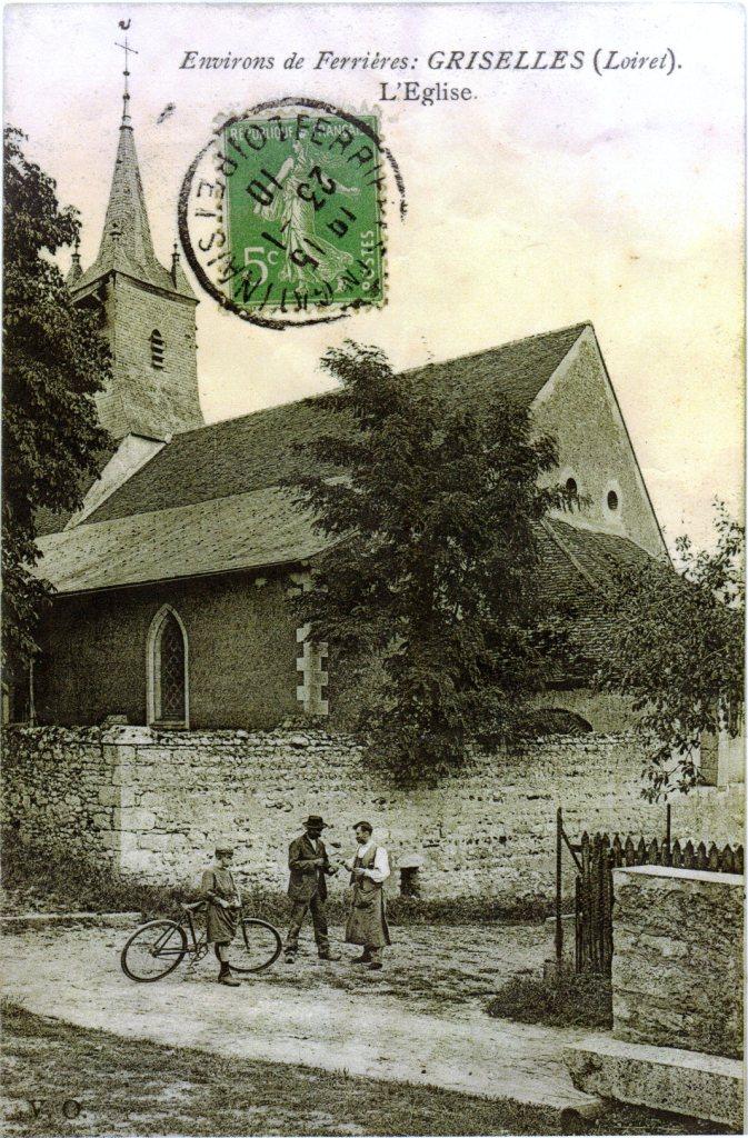 Entrée de l'église de Griselles